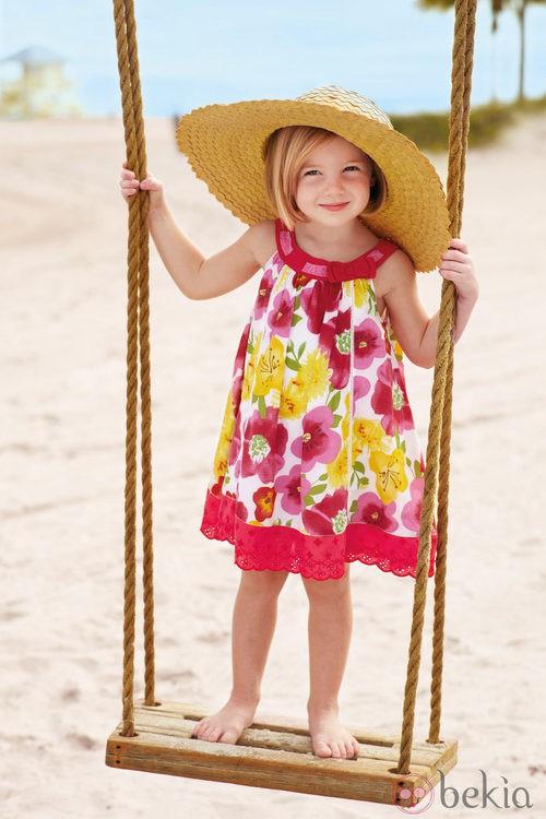 Vestido estampado de niña de la nueva colección My Chicco de la casa italiana Verano 2012