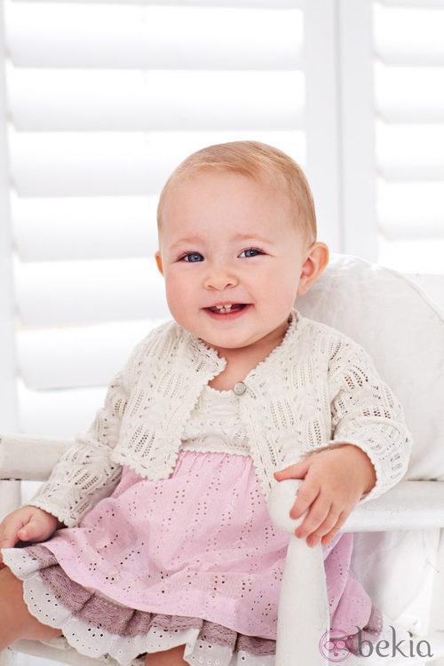 Vestido rosa de la colección de bebés My First Chicco Verano 2012