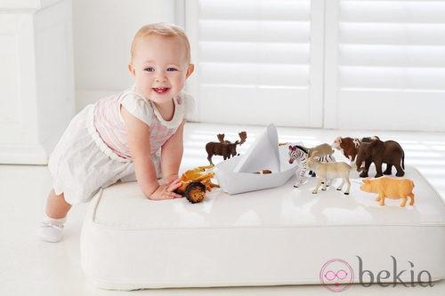 Conjunto para niña en blanco y rosa de la colección de bebés My First Chicco Verano 2012