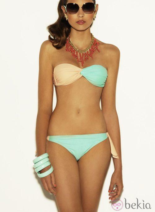 Bikini bicolor de la colección verano 2012 de Suiteblanco