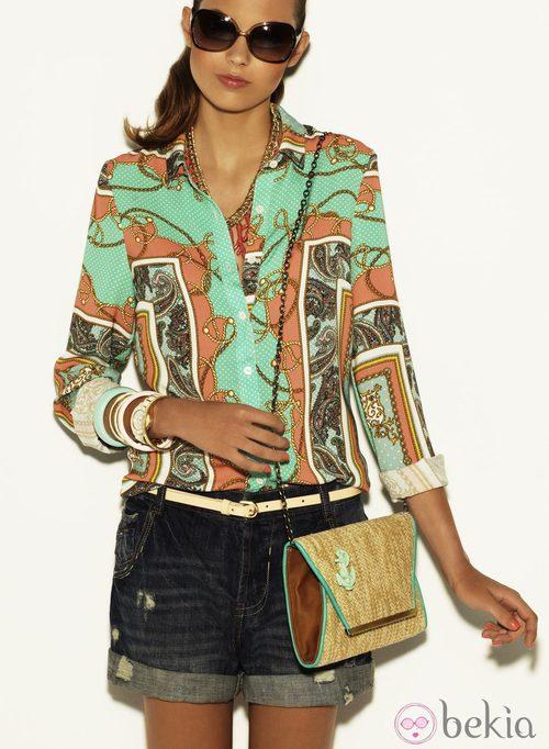 Camisa con estampado panuelo de la colección Verano 2012 de Suiteblanco