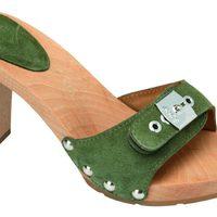 Sandalia verde de madera de la nueva colección de Scholl para este verano 2012