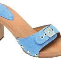 Sandalia azul de madera de la nueva colección de Scholl para este verano 2012