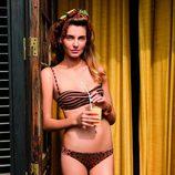 bikini con estampado de rayas y animal print  de la colección verano 2012 de Women'secret