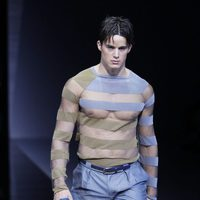 Emporio Armani apuesta por las rayas en la Semana de la Moda masculina de Milán