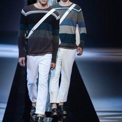 Desfile de Emporio Aarmani en el Semana de la Moda masculina de Milán