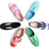 Zapatillas de lino con cuadros de la colección Victoria by BMABA verano 2012