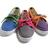 Zapatillas con cordones de colores de la colección Victoria by BAMBA verano 2012