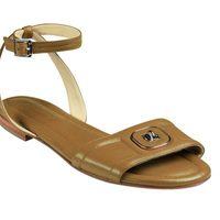 Sandalias planas de la nueva colección de Longchamp para este verano 2012