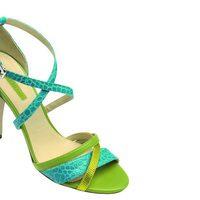 Sandalias bicolor de la nueva colección de Longchamp para este verano 2012