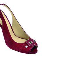 Sandalias de tacón tipo peeptoes de la nueva colección de Longchamp para este verano 2012