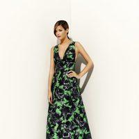 Vestido verde estampado de la colección primavera/verano 2012 de Alta Costura de Pedro del Hierro