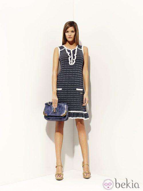 Vestido de rayas de la colección 'Gaingsbourg' primavera/verano 2012 de Pedro del Hierro