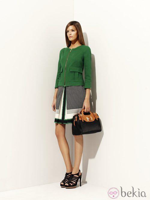 Chaqueta verde de la colección 'Green' primavera/verano 2012 de Pedro del Hierro
