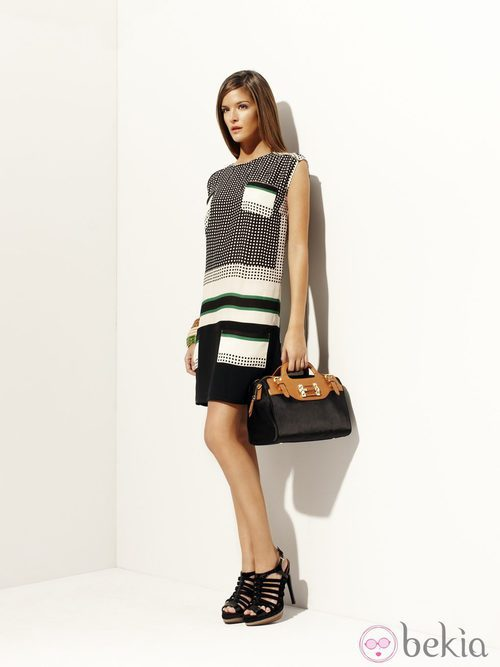 Vestido con variedad de estampados de la colección 'Green' primavera/verano 2012 de Pedro del Hierro
