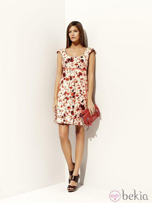 Vestido estampado de la colección 'Tautao' primavera/verano 2012 de Pedro del Hierro
