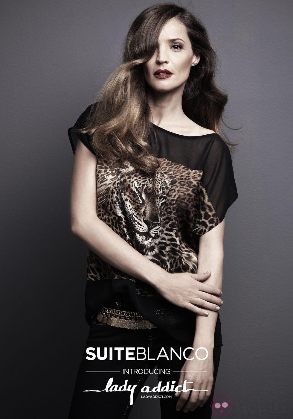 Lady Addict con camisa de estampado animal de SuiteBlanco