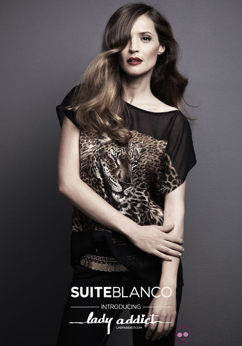 Lady Addict con camisa de estampado animal de SuiteBlanco