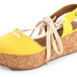 Flatforms tipo alpargata en color amarillo de la colección verano 2012 de Sixtyseven