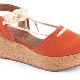 Flatforms tipo alpargata en color naranja de la colección verano 2012 de Sixtyseven