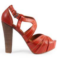 Sandalias en color rojo de la colección verano 2012 de Sixtyseven