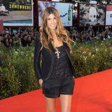 Bianca Brandolini con un look 'total black'