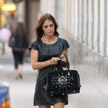 Paula Echevarría con vestido negro de cuero