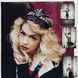 Rita Ora posa con gorra negra y jersey y vintage para la revista Asos Magazine