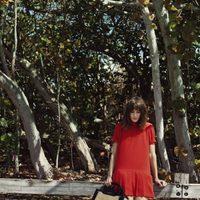 Alexa Chung con un vestido babydoll de la colección otoño/invierno 2012/2013 de Vero Moda