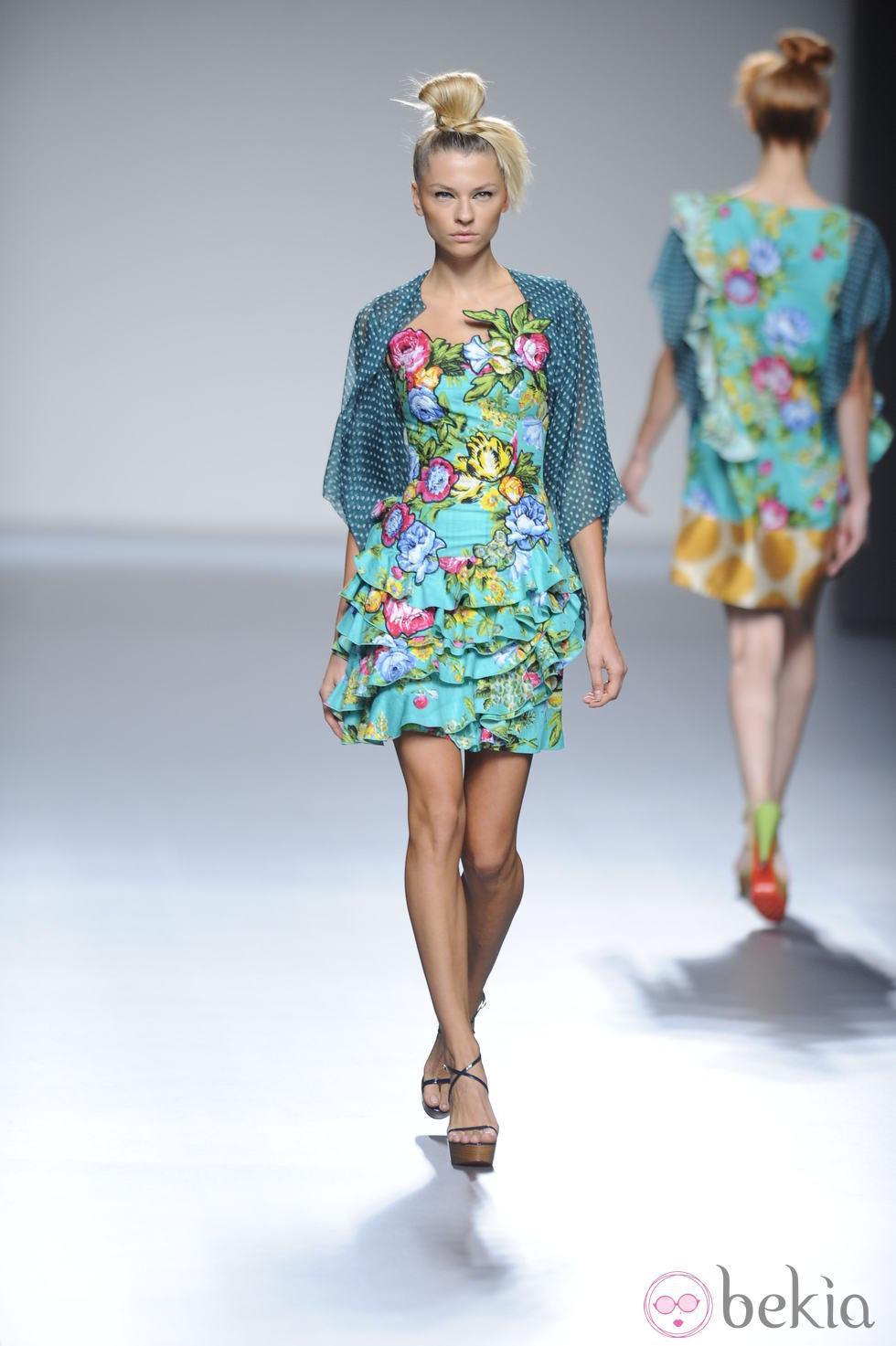 vestidos de flores verano 2013