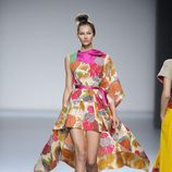 Vestido desigual estampado de flores de la colección primavera-verano 2013 de Victorio&Lucchino