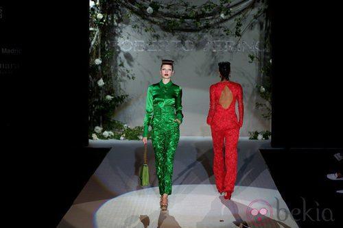 Pasarela del desfile de Roberto Verino en la Fashion Week Madrid el 31 de agosto 2012