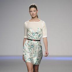 Vestido corto estampado de la colección primavera-verano 2013 de Kina Fernández