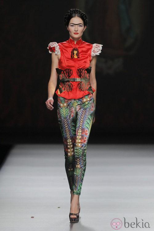 Pantalón con estampado vegetal de Maya Hansen, colección primavera-verano 2013