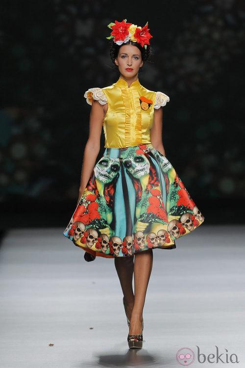 Falda con estampado de la Santa Muerte de Maya Hansen, colección primavera-verano 2013