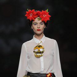 Falda evasé con estampado religioso de Maya Hansen, colección primavera-verano 2013