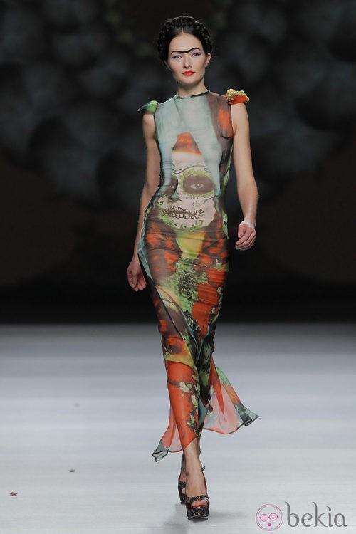Vestido de gasa estampado de Maya Hansen, colección primavera-verano 2013