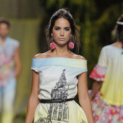 Vestido estampado de Francis Montesinos, colección primavera/verano 2013