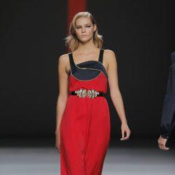 Vestido rojo de Miguel Palacio, colección primavera/verano 2013