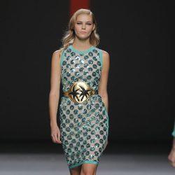 Vestido con estampado esférico de Miguel Palacio, colección primavera/verano 2013