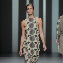Vestido con estampado geométrico de Martín Lamothe, colección primavera/verano 2013