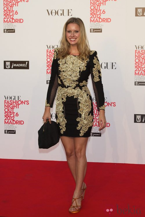 Manuela Vellés en la Vogue Fashion's Night Out 2012 en Madrid