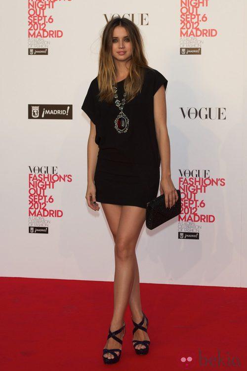 Ana de Armas en la Vogue Fashion's Night Out 2012 en Madrid