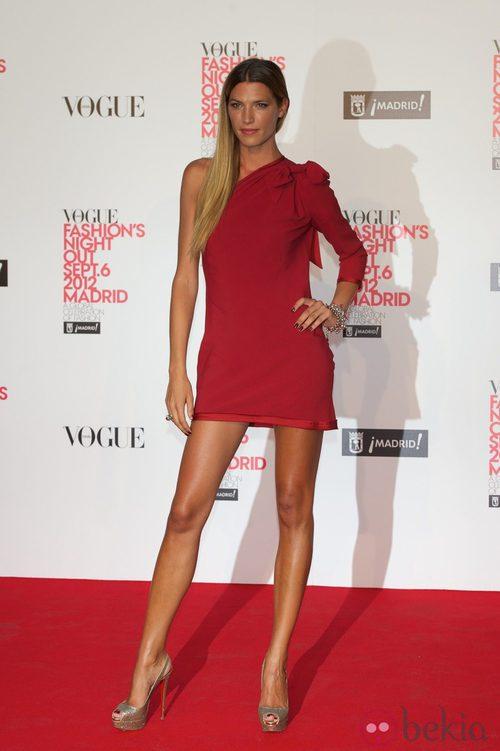 Laura Sánchez en la Vogue Fashion's Night Out 2012 en Madrid