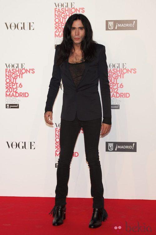Mario Vaquerizo en la Vogue Fashion's Night Out 2012 en Madrid