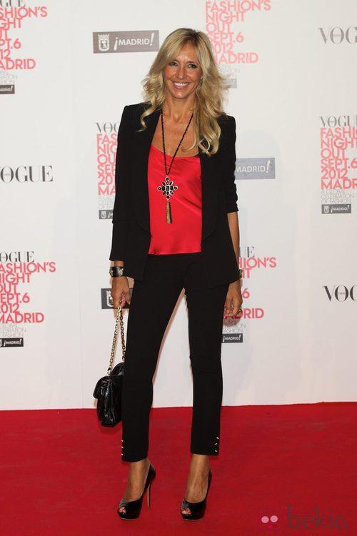 Marta Robles en la Vogue Fashion's Night Out 2012 en Madrid