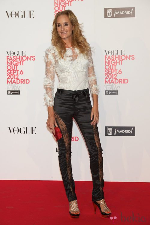 Sandra Ibarra en la Vogue Fashion's Night Out 2012 en Madrid