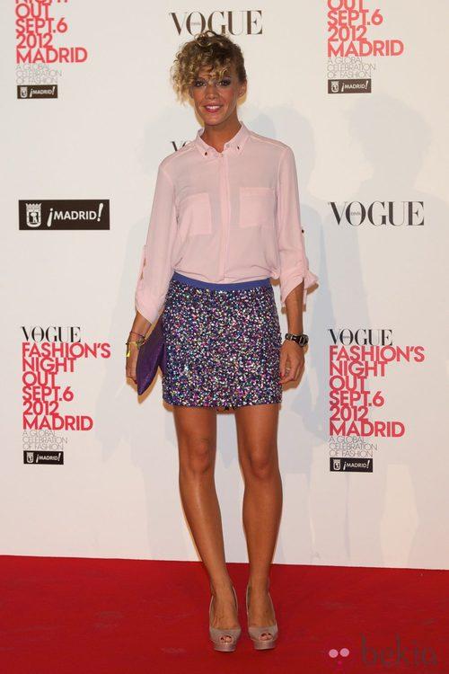 Bárbara Muñoz en la Vogue Fashion's Night Out 2012 en Madrid