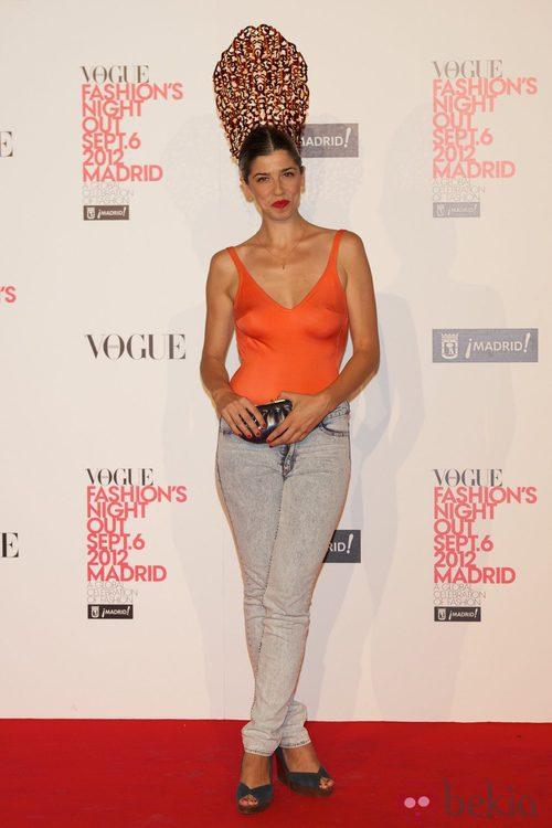 Julia de Castro en la Vogue Fashion's Night Out 2012 en Madrid
