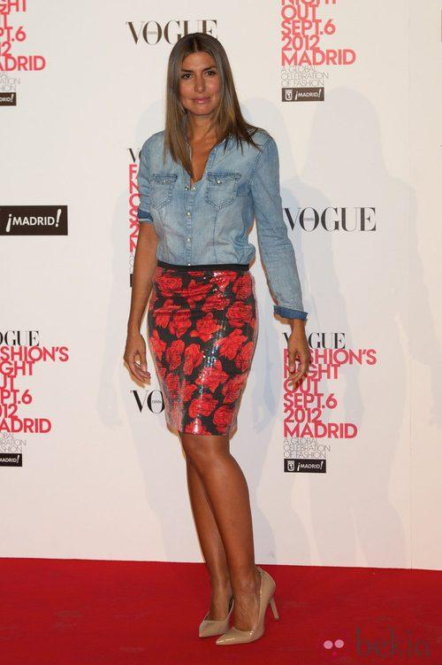 Silvia Casas en la Vogue Fashion's Night Out 2012 en Madrid